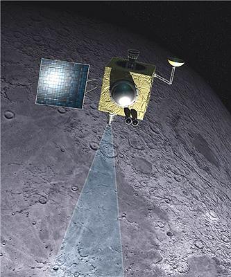 Wizualizacja sondy Chandrayaan 1 - ISRO