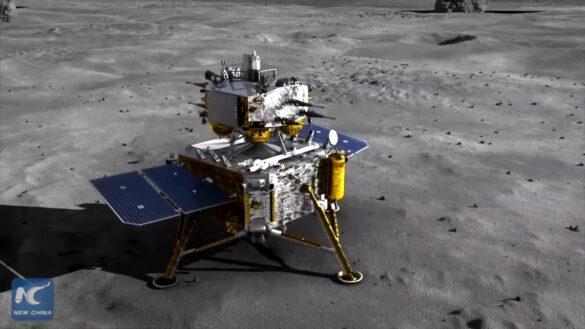 Chang'e 5 na Księżycu / CNSA