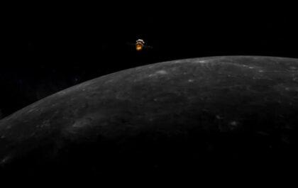 Chang'e 5 in lunar orbit / Weixin
