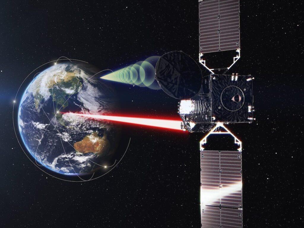 Wizualizacja satelity JDRS-1 / JAXA