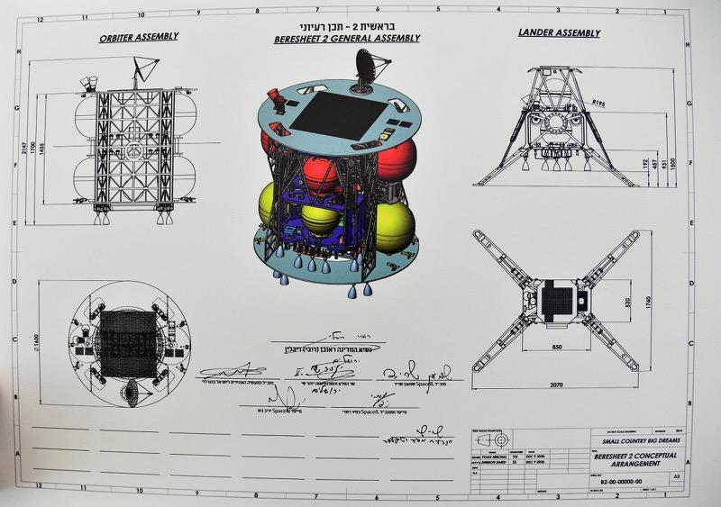 Szkic projektu Beresheet 2 / SpaceIL