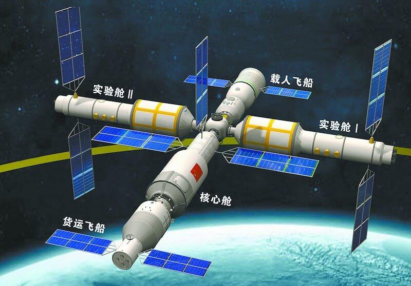 Wizualizacja stacji kosmicznej Tiangong / CNSA
