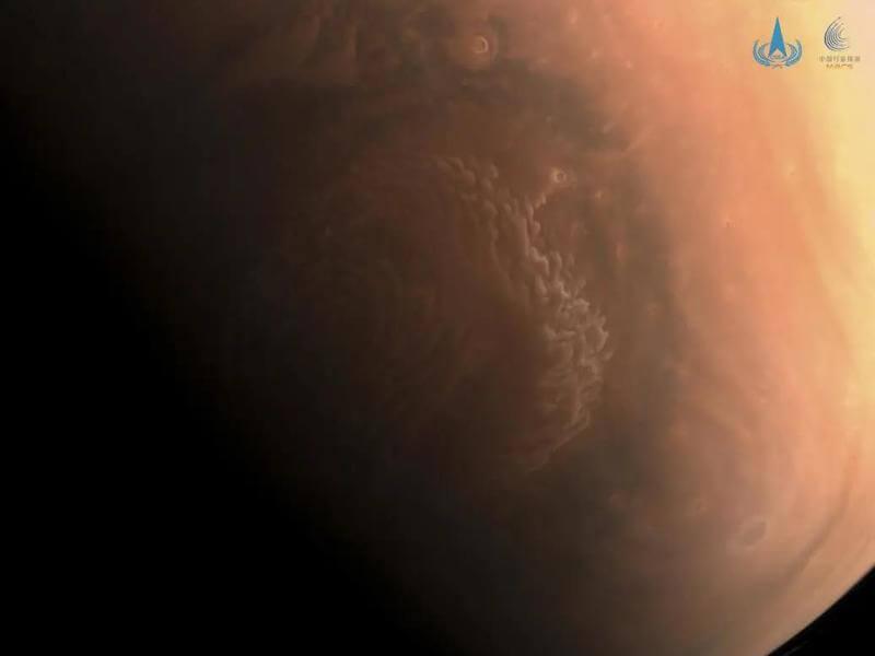 Kolorowe zdjęcie Marsa z Tianwen-1 / CNSA