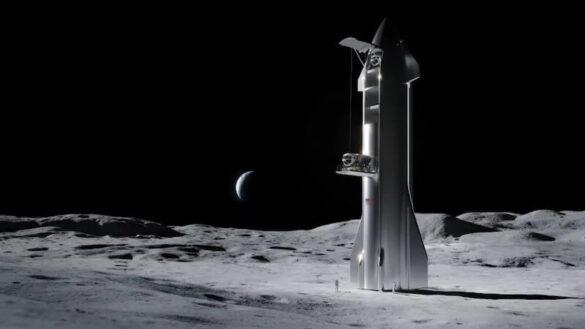 Lądownik księżycowy SpaceX na bazie pojazdu Starship / SpaceX
