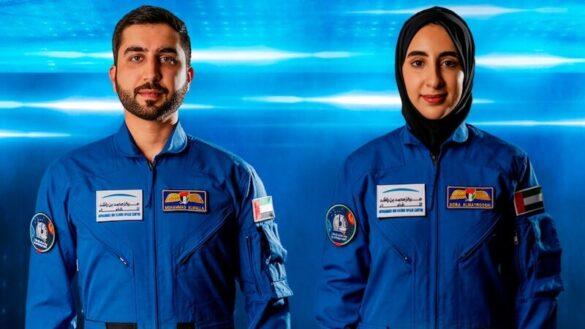 Nowi astronauci z ZEA: Muhammad al-Mulla oraz Nura al-Matruszi / MBRSC / WAM / AP