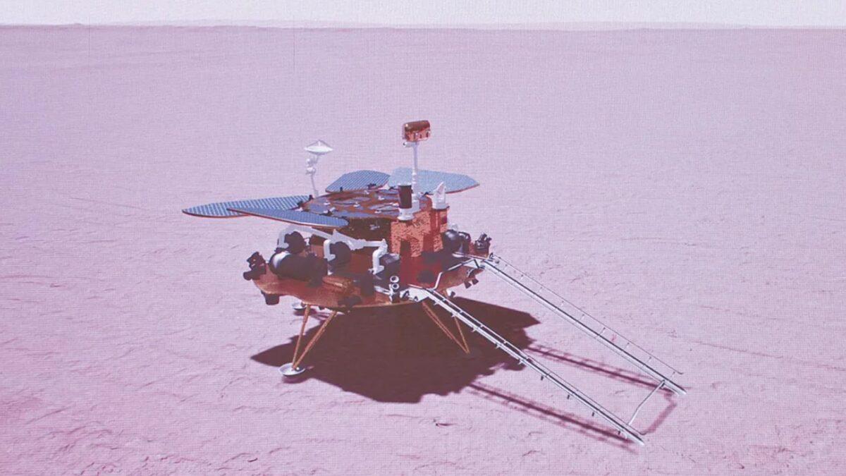 Łazik Zhurong wylądował na Marsie
