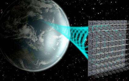 Wizualizacja elektrowni kosmicznej/ JAXA