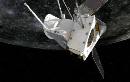 BepiColombo nad Merkurym / ESA, JAXA